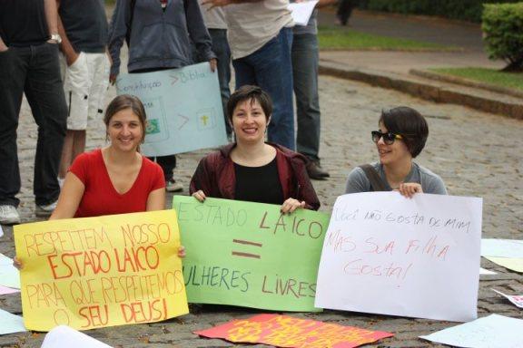 Minha participação na Marcha pelo Estado Laico de Belo Horizonte - setembro de 2011.