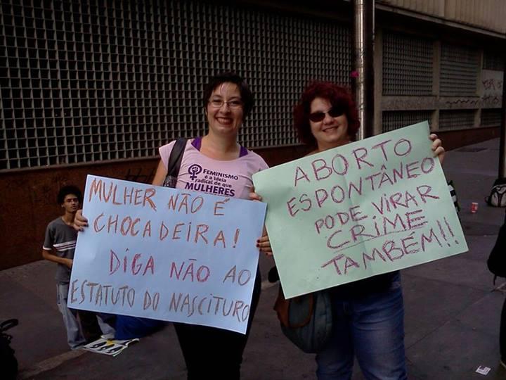 Participando do Ato Contra o Estatuto do Nascituro em 15/06/2013