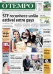 capa do jornal O Tempo de 06/05/2011