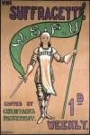 Capa de Suffragette, jornal de divulgação da WSPU. Fonte: Museum of London